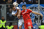 02.12.2018, Schauinsland-Reisen-Arena, Duisburg, GER, 2. FBL, MSV Duisburg vs. Holstein Kiel, DFL regulations prohibit any use of photographs as image sequences and/or quasi-video<br /> <br /> im Bild Kopfball / Kopfballduell John Verhoek (#15, MSV Duisburg)  Jonas Meffert (#26, Holstein Kiel)  <br /> <br /> Foto &copy; nordphoto/Mauelshagen