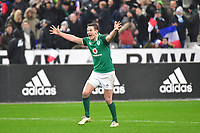 Jonathan Sexton of Ireland celebrates after his injury time drop goal wins the the RBS Six Nations match between France and Ireland at Stade de France on February 3, 2018 in Paris, France. (Photo by Dave Winter/Icon Sport)