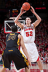 March 3, 2010: Wisconsin Badgers forward Keaton Nankivil (52) passes the ball during a Big Ten Conference NCAA basketball game against the Iowa Hawkeyes at the Kohl Center on March 3, 2010 in Madison, Wisconsin. The Badgers won 67-40. (Photo by David Stluka)