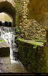 Barbican Falls, Fortified Gate, Norman Stonework, Leeds Castle, Maidstone, Kent, England, UK