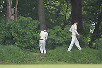 Ball search during Shenfield CC (batting) vs Hornchurch CC (Bowling) ,Shepherd Neame Essex League Cricket at Chelmsford Road on 12th May 2018