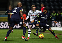 Preston North End's Tom Barkhuizen competing with Derby County's Duane Holmes  <br /> <br /> Photographer Andrew Kearns/CameraSport<br /> <br /> The EFL Sky Bet Championship - Preston North End v Derby County - Friday 1st February 2019 - Deepdale Stadium - Preston<br /> <br /> World Copyright © 2019 CameraSport. All rights reserved. 43 Linden Ave. Countesthorpe. Leicester. England. LE8 5PG - Tel: +44 (0) 116 277 4147 - admin@camerasport.com - www.camerasport.com