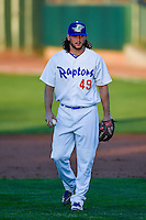 Cameron Palmer (49) of the Ogden Raptors during the game against the Grand Junction Rockies in Pioneer League action at Lindquist Field on June 20, 2016 in Ogden, Utah. The Rockies defeated the Raptors 5-2. (Stephen Smith/Four Seam Images)