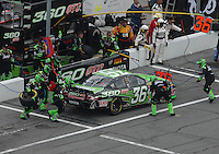 Feb 15, 2007; Daytona, FL, USA; Nascar Nextel Cup Series driver Jeremy Mayfield (36) pits during race one of the Gatorade Duel at Daytona International Speedway. Mandatory Credit: Mark J. Rebilas