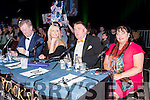 Aidan O'Carroll (Kerry School of Music), Councillor Toireasa Ferris Tim Landers (School of Performing Arts) and Kay Lewis (Audiology Medical Services), who were judges at Austin Stacks Strictly Come Dancing competition.