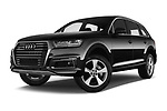 Stock pictures of low aggressive front three quarter view of 2017 Audi Q7-e-Tron Avus 5 Door SUV Low Aggressive