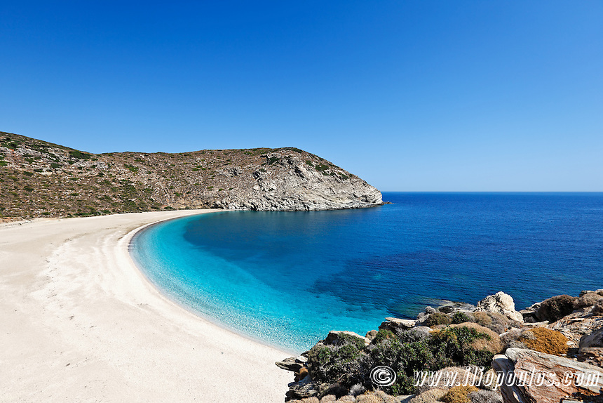 Zorgos is definitely the most beautiful beach in Andros island, Greece