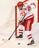 Jakob Forsbacka Karlsson (BU - 23) The Boston University Terriers defeated the visiting Yale University Bulldogs 5-2 on Tuesday, December 13, 2016, at the Agganis Arena in Boston, Massachusetts.