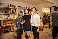 Stephen Neidichutrf, Julia Barna and Casey Jacobs attend the Reservoir Celebrates One-Year Anniversary with Cocktail Event and Opening of Second Floor Home Shop on Nov. 19, 2016 (Photo by Inae Bloom/Guest of a Guest)