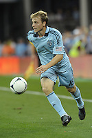 Sporting KC defender Seth Sinovic in action.Sporting Kansas City defeated Philadelphia Union 2-1 at LIVESTRONG Sporting Park, Kansas City, KS.