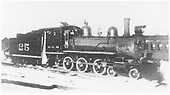 RGS 4-6-0 #25 at Ridgway prior to 1930.<br /> RGS  Ridgway, CO  Taken by Best, Gerald M. - before 1930