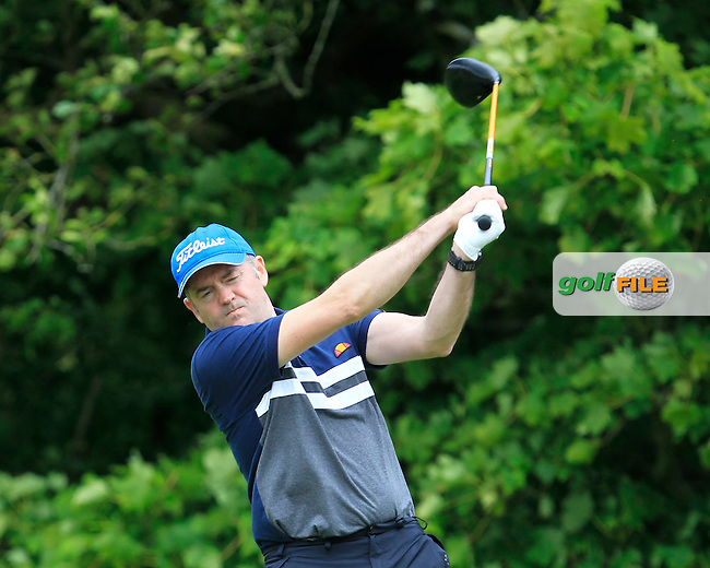 Barry Forsyth (Corballis Links) on the 14th tee during Round 2 of the Irish Mid-Amateur Open Championship at New Forest on Saturday 20th June 2015.<br /> Picture:  Thos Caffrey / www.golffile.ie