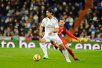 Real Madrid´s  and Sevilla's  during 2014-15 La Liga match between Real Madrid and Sevilla at Santiago Bernabeu stadium in Alcorcon, Madrid, Spain. February 04, 2015. (ALTERPHOTOS/Luis Fernandez) /NORTEphoto.com
