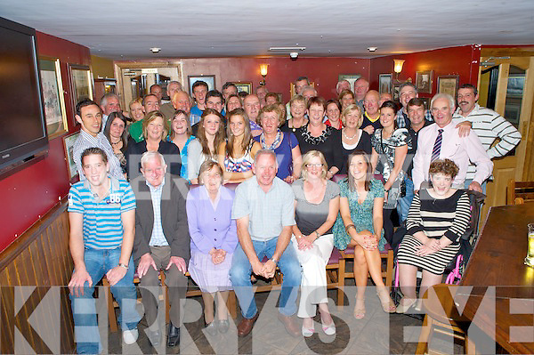 Mary and Gerard O'Gorman, Kilcummin, pictured with family and friends as they celebrated their 30th wedding anniversary in Corkerys Bar, Killarney on Friday night...