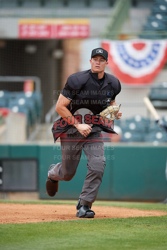 Umpire Dillon Wilson during a Florida State League game between the Jupiter Hammerheads and Florida Fire Frogs on April 8, 2019 at Osceola County Stadium in Kissimmee, Florida.  Florida defeated Jupiter 7-6 in ten innings.  (Mike Janes/Four Seam Images)