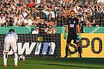 10.08.2019, Donaustadion, Ulm, GER, DFB Pokal, SSV Ulm 1846 Fussball vs 1. FC Heidenheim, <br /> DFL REGULATIONS PROHIBIT ANY USE OF PHOTOGRAPHS AS IMAGE SEQUENCES AND/OR QUASI-VIDEO, <br /> im Bild Elfmeter, Christian Ortag (Ulm, #39)<br /> <br /> Foto © nordphoto / Hafner