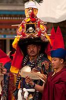 Buddhist head Lama conducts Losar prayers in Sikkim, India