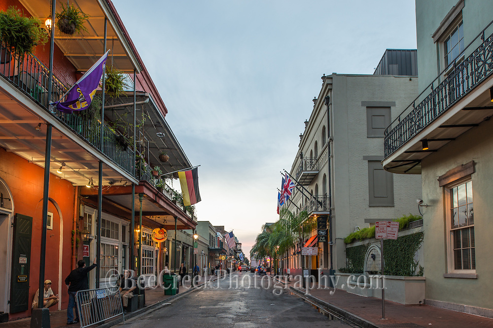 Street scene early morning in New Orleans