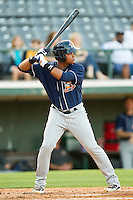 Argenis Diaz #11 of the Toledo Mud Hens at bat against the Charlotte Knights at Knights Stadium on May 7, 2012 in Fort Mill, South Carolina.  (Brian Westerholt/Four Seam Images)