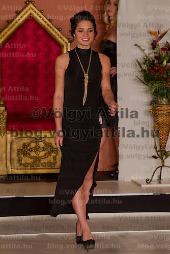 Muzsa Kalvari runner up of the Teen Miss Hungary beauty contest held in Budapest, Hungary on December 29, 2011. ATTILA VOLGYI