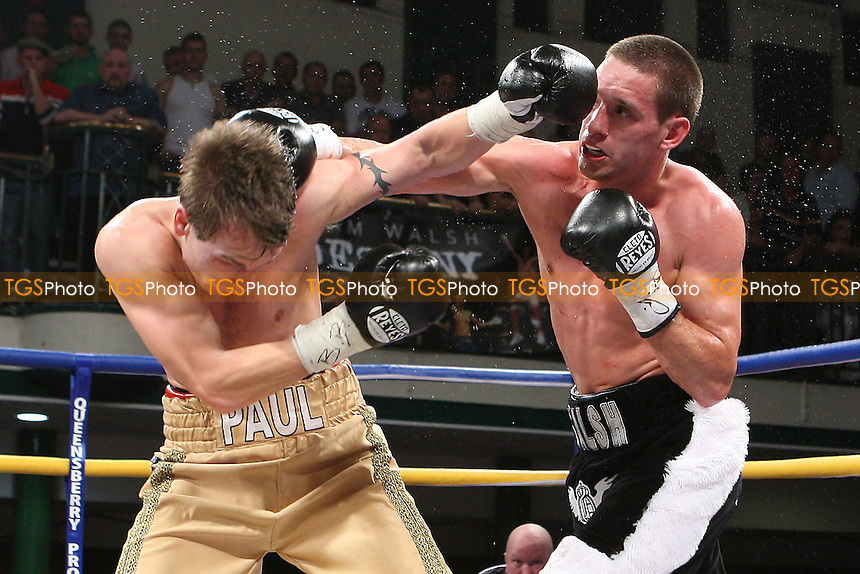 Liam Walsh (Cromer) fights Paul Appleby (South Queensferry) in a Super-Featherweight Boxing Contest for the Commonwealth Title at York Hall, Bethnal Green, promoted by Queensberry Promotions - 30/09/11 - MANDATORY CREDIT: Gavin Ellis/TGSPHOTO - Self billing applies where appropriate - 0845 094 6026 - contact@tgsphoto.co.uk - NO UNPAID USE.