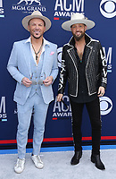 07 April 2019 - Las Vegas, NV - LOCASH, Chris Lucas, Preston Brust. 54th Annual ACM Awards Arrivals at MGM Grand Garden Arena. Photo Credit: MJT/AdMedia<br /> CAP/ADM/MJT<br /> &copy; MJT/ADM/Capital Pictures