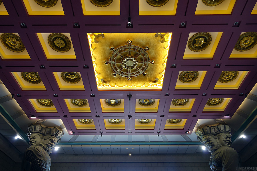 The inside of Chung Tai Chan Moneastery