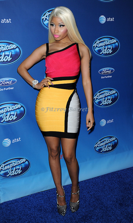 Nicki Minaj at American Idol Premiere Event at Royce Hall, UCLA. Los Angeles, CA. January 9, 2013.