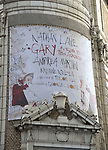 """Theatre Marquee unveiling for the Taylor Mac Comedy """"Gary: A Sequel to Titus Andronicus"""" starring Nathan Lane and Andrea Martin with direction by George C. Wolfe at the Booth Theatre on February 8, 2019 in New York City."""