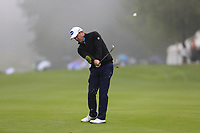 Scott Hend (AUS) plays his 2nd shot on the 2nd hole during Saturday's Round 3 of the 2017 Omega European Masters held at Golf Club Crans-Sur-Sierre, Crans Montana, Switzerland. 9th September 2017.<br /> Picture: Eoin Clarke | Golffile<br /> <br /> <br /> All photos usage must carry mandatory copyright credit (&copy; Golffile | Eoin Clarke)