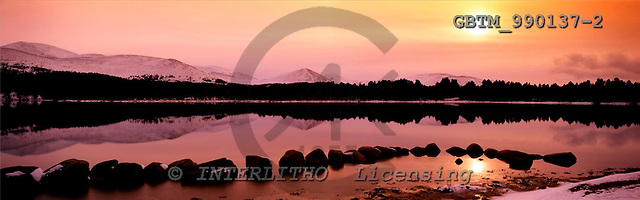 Tom Mackie, LANDSCAPES, panoramic, photos, Loch Morlich in Winter, near Aviemore, Highland Region, Scotland, GBTM990137-2,#L#