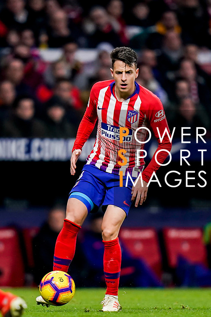 Santiago Arias of Atletico de Madrid in action during the La Liga 2018-19 match between Atletico de Madrid and RCD Espanyol at Wanda Metropolitano on December 22 2018 in Madrid, Spain. Photo by Diego Souto / Power Sport Images