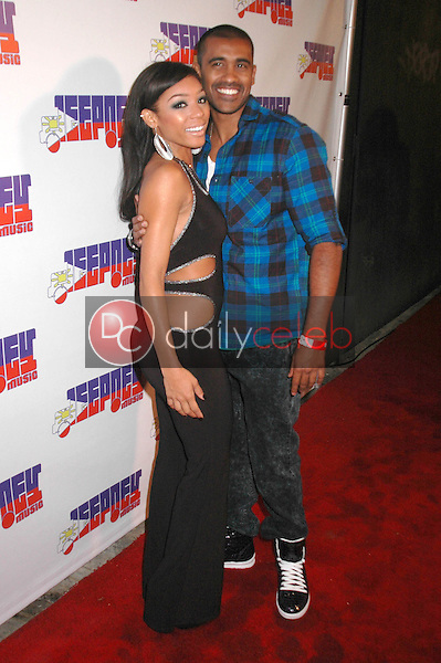 Chrystina Sayers and DeLon<br />at the Jeepney Music Launch Party. ECCO, Hollywood, CA. 08-11-09<br />Dave Edwards/DailyCeleb.com 818-249-4998