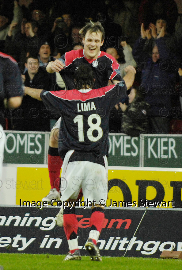 30/12/2006       Copyright Pic: James Stewart.File Name : sct_jspa01_falkirk_v_inverness.ANTHONY STOKES CELEBRATES AFTER HE SCORES FALKIRK'S SECOND.James Stewart Photo Agency 19 Carronlea Drive, Falkirk. FK2 8DN      Vat Reg No. 607 6932 25.Office     : +44 (0)1324 570906     .Mobile   : +44 (0)7721 416997.Fax         : +44 (0)1324 570906.E-mail  :  jim@jspa.co.uk.If you require further information then contact Jim Stewart on any of the numbers above.........