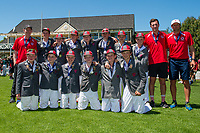 Second place Medbury School, after the National Primary School Cup Final at the Bert Sutcliffe Oval, Lincoln University, Christchurch, New Zealand. Wednesday 22 November 2017. Photo: John Davidson/www.bwmedia.co.nz
