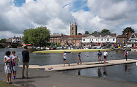 Henley on Thames. United Kingdom.  General View, Boat Tent Area. Thursday,  30/06/2016,      2016 Henley Royal Regatta, Henley Reach.   [Mandatory Credit Peter Spurrier/ Intersport Images]