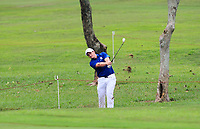 Paul Dunne (Europe) on the 1st fairway during the Singles Matches of the Eurasia Cup at Glenmarie Golf and Country Club on the Sunday 14th January 2018.<br /> Picture:  Thos Caffrey / www.golffile.ie