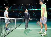 Februari 11, 2015, Netherlands, Rotterdam, Ahoy, ABN AMRO World Tennis Tournament, Dominic Thiem (AUT) - Sergiy Stakhovsky (UKR)<br /> Photo: Tennisimages/Henk Koster