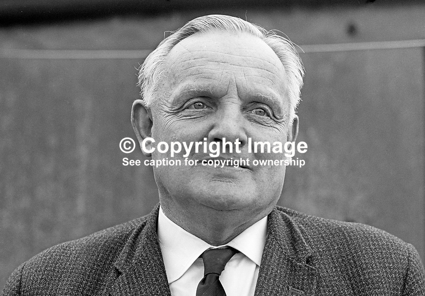 Norman Wilson, NRJ Wilson, chairman, Omagh Urban Council, N Ireland, November, 1967, 196711000189<br />
