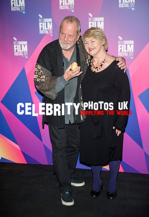 "Terry Gilliam and Annette Badland leaving the""Jabberwocky"" Screenings at BFI London Film Festival 2017"