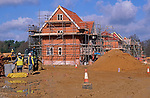 A87CT3 Building site new housing development being built Rendlesham Suffolk England