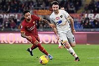 Justin Kluivert of AS Roma , Fabio Lucioni of Lecce <br /> Roma 23/02/2020 Stadio Olimpico <br /> Football Serie A 2019/2020 <br /> AS Roma - Lecce<br /> Photo Andrea Staccioli / Insidefoto