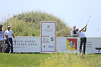 Joakim Lagergren (SWE) during the final round of the Rocco Forte Sicilian Open played at Verdura Resort, Agrigento, Sicily, Italy 13/05/2018.<br /> Picture: Golffile | Phil Inglis<br /> <br /> <br /> All photo usage must carry mandatory copyright credit (&copy; Golffile | Phil Inglis)