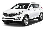 2014 KIA SPORTAGE Sense 5 Door SUV 2WD Angular Front stock photos of front three quarter view