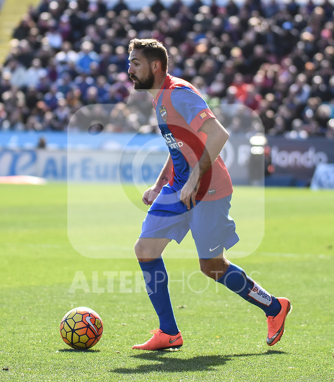 Levante's     Morales  during La Liga match. February 7, 2016. (ALTERPHOTOS/Javier Comos)