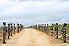 Qunu, South Africa: 13.12.2013: NELSON MANDELA FUNERAL<br /> The army line the route in a rehearsal for the funeral of the former President of South Africa Nelson Mandela in Qunu, Eastern Cape. 13/12/2013.<br /> Mandatory Credit Photo: &copy;Duda-GCIS/NEWSPIX INTERNATIONAL<br /> <br /> **ALL FEES PAYABLE TO: &quot;NEWSPIX INTERNATIONAL&quot;**<br /> <br /> IMMEDIATE CONFIRMATION OF USAGE REQUIRED:<br /> Newspix International, 31 Chinnery Hill, Bishop's Stortford, ENGLAND CM23 3PS<br /> Tel:+441279 324672  ; Fax: +441279656877<br /> Mobile:  07775681153<br /> e-mail: info@newspixinternational.co.uk