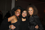 """Another World's Rhonda Ross with Law and Order SVU's and As The World Turns' Tamara Tunie and her mom at The Fourteenth Annual Hearts of Gold Gala """"Hooray for Hollywood!"""" - with its mission to foster sustainable change in lifestyle and levels of self-sufficiency for homeless mothers and their children on October 28, 2010 at the Metropolitan Pavillion, New York City, New York. (Photo by Sue Coflin/Max Photos)"""