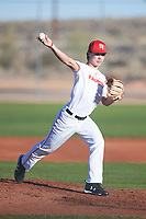 Nathan Lucero (44), from Antelope, California, while playing for the Nationals during the Under Armour Baseball Factory Recruiting Classic at Red Mountain Baseball Complex on December 28, 2017 in Mesa, Arizona. (Zachary Lucy/Four Seam Images)
