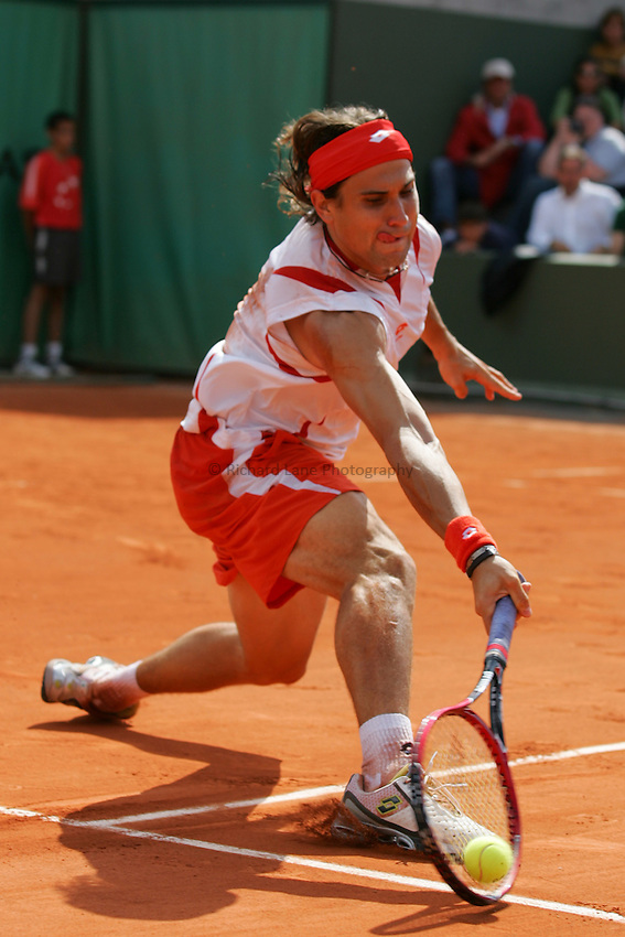 Photo: Iconsport/Richard Lane Photography..French Open, Roland Garros 2007. 31/05/2007..David Ferrer.