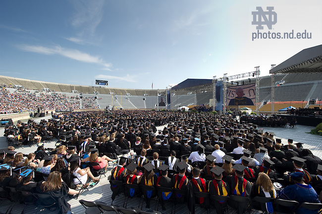 May 22, 2011; Commencement 2011 in Notre Dame Stadium...Photo by Matt Cashore/University of Notre Dame